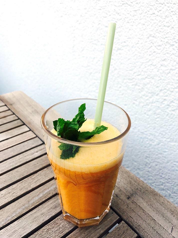 aprikosen minze smoothie rezept